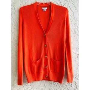 🌺 Old Navy orange button down cardigan M